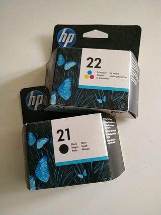 Cartuchos originales HP 21 y HP 22