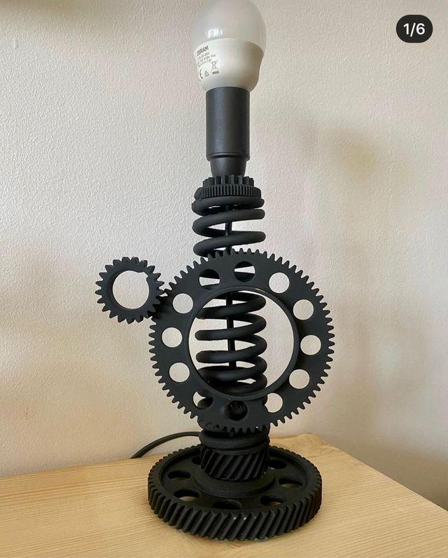 luz lampara de noche estilo industrial
