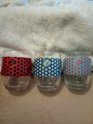 3 vasos cristal Vicky M. berrocal