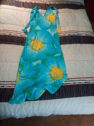 Vestido estampado floral de BLANCO