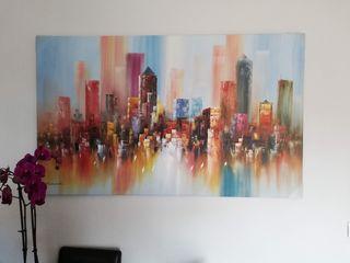 cuadro al oleo city sky liner New York