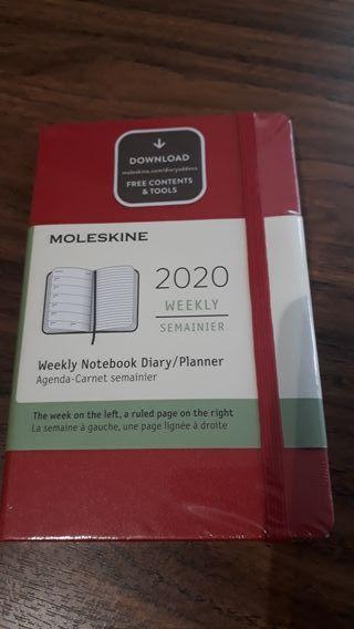 Agenda semanal Moleskine bolsillo