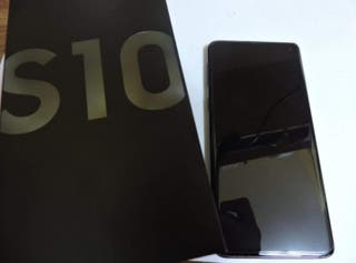 Samsung Galaxy s10 con protector vidrio/Carcasas