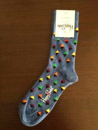 Calcetines 36-40 azul algodon de happy socks