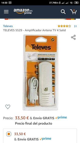 TELEVES 5529 AMPLIFICADOR C/ALIM. 5 SALIDAS 552940