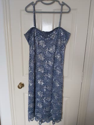 Size 18 Lace & sequin dress with matching cover up