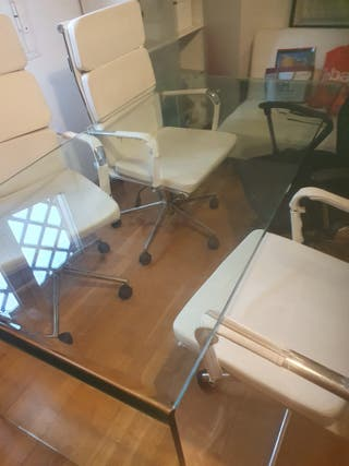 Mesa Despacho Luxe 20 mm de cristal macizo .