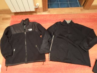 2 forro polar the north face t reebok talla L