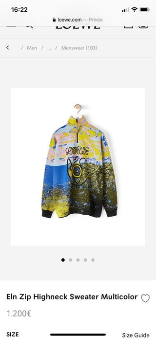 Loewe Eye Zip Sweater Multicolor NUEVO