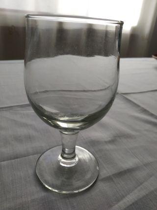 6 copas agua vintage
