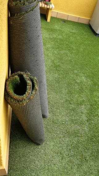 Cesped artificial, para suelos de balcón, alfombra