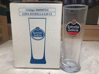 Copas de cerveza Estrella Galicia nuevas (0,25l)
