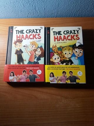 "1 y 2 libro de youtubers ""the crazy haacks"""