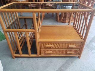 Mueble tv o recibidor bambú
