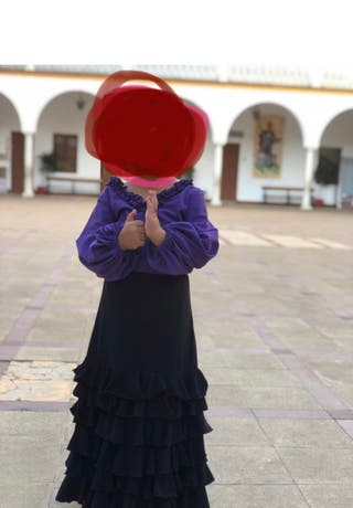 Falda y camisa flamenco baile