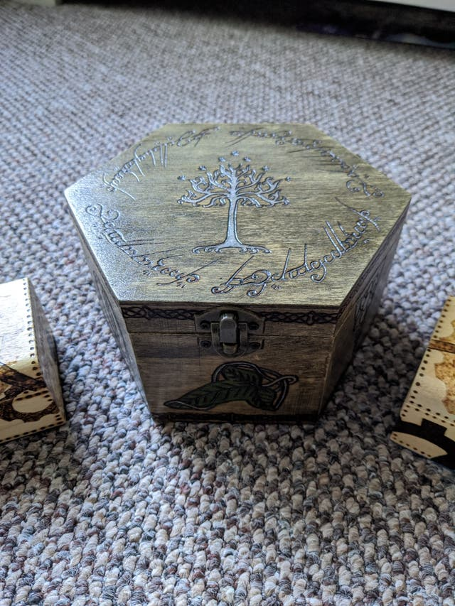 3 hand made trinket boxes
