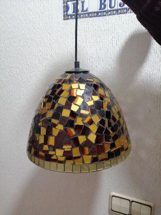 lámparas de mosaicos de cristal
