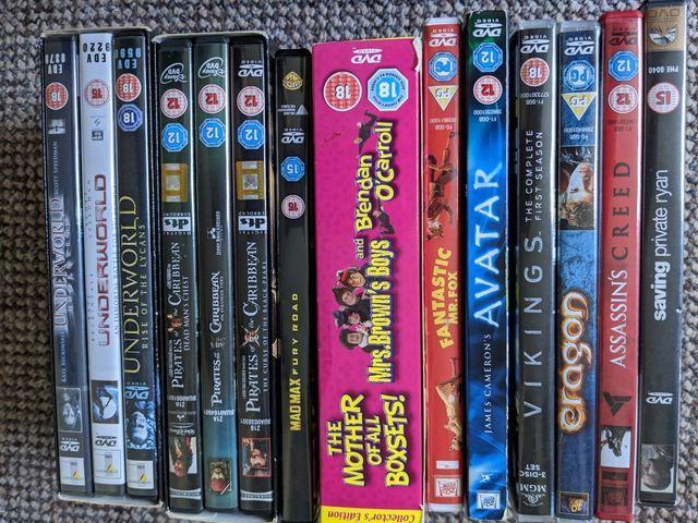 dvd bundle 12 in total