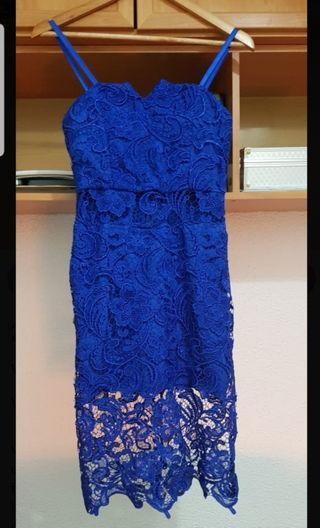 Vestido azul fiesta/boda