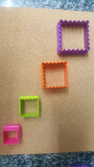 Moldes cuadrados para hacer galletas