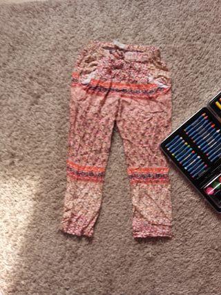 Pantalones niña Zara + maletín