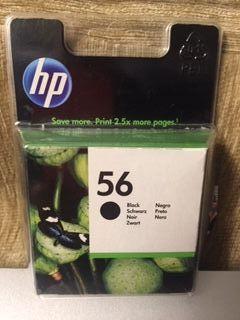 Cartucho de tinta modelo HP 56 black (negro)