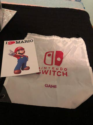 Cartel I LOVE MARIO y mochila Nintendo Switch