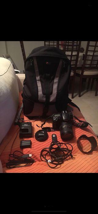Vendo Nikon D7000 18 - 200 VRII y ( con extras )