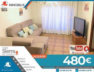 Piso en alquiler en Cuatrocientas Viviendas en Alicante