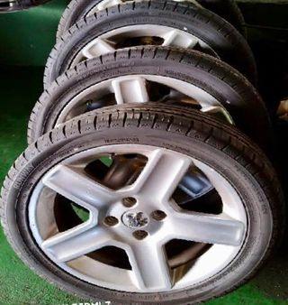 Llantas 307 en 17 con neumáticos