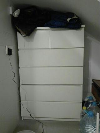 cómoda blanca de IKEA