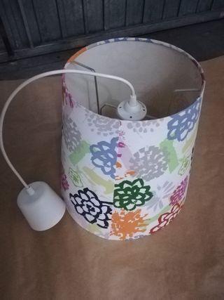 lámpara de techo floral