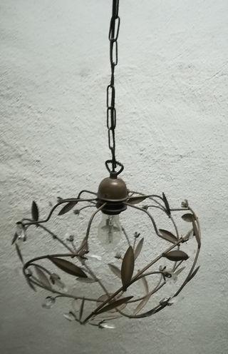 lámpara de techo hojas y cristal