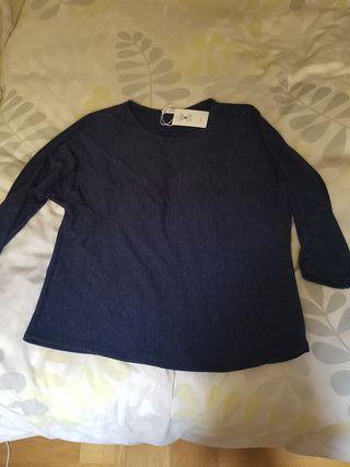 Jersey azul manga murciélago