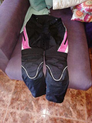 pantalon moto mujer