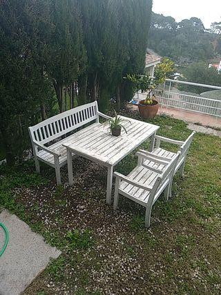 conjunto de mesa para jardin