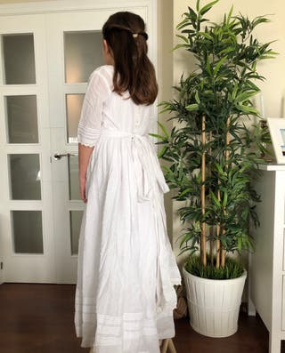 Vestido comunión plumeti