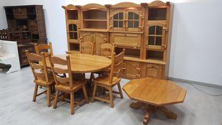 Muebles Salon Rustico Macizo de Roble