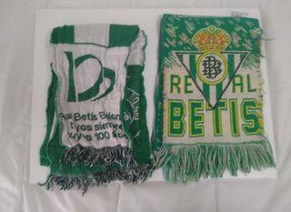 Bufandas y firma Betis