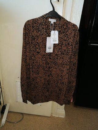 women's lepard print shirt