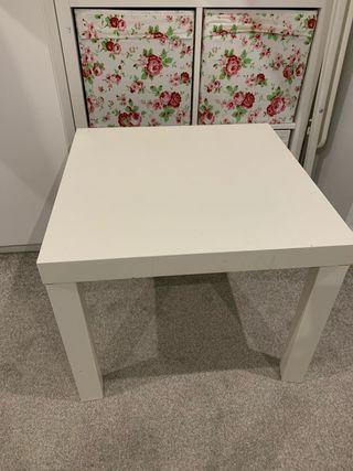 Kallax white ikea table