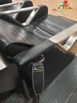 lavacabezas con pies reclinables eléctrico