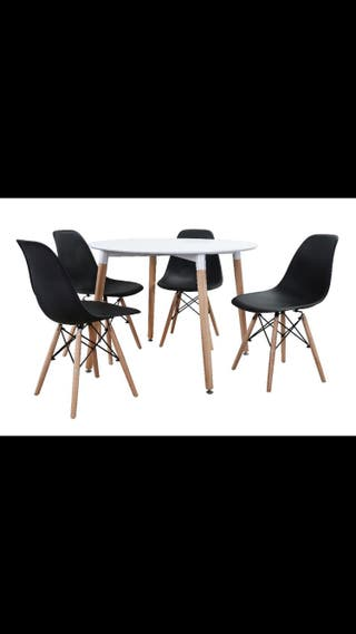 Set Mesa 100 cm+ sillas
