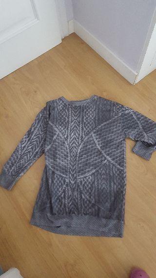 camisa larga / dress gris moderna de ZARA