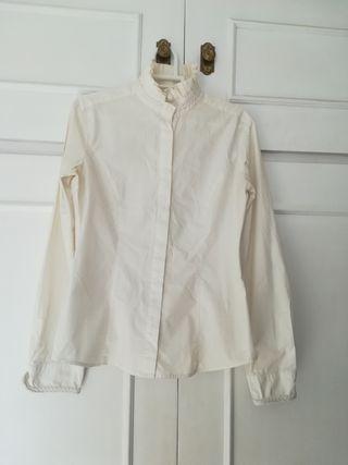 Camisa crema Versace