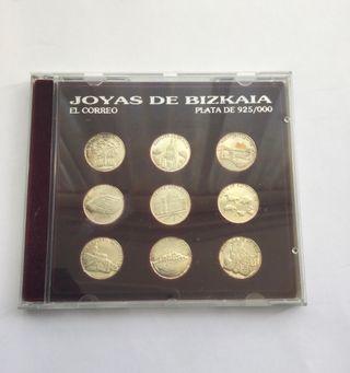 Joyas de Bizkaia, 9 medallas de plata 925/000