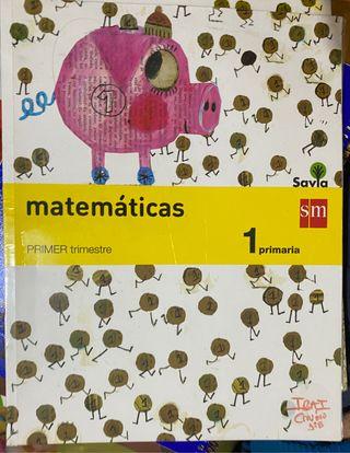 Pack de 3 libros de primero primaría matematicas.