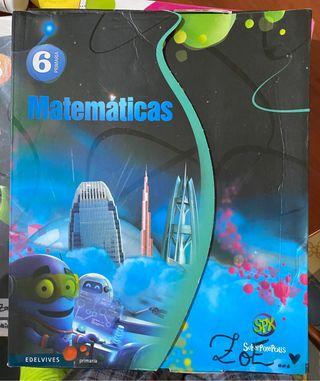 Todos los libro de matemáticas 6 de primari