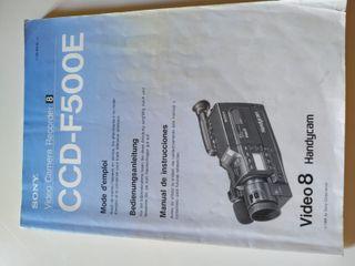 SONY CCD-F500E DESPIECE CAMARA MANUAL INSTRUCCIONE