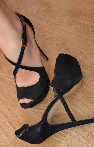 Peep toes talla 40 con plataforma